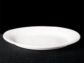 Irregular Rimmed Oval Platter