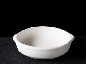 Round Tapas Dish With Built In Handles