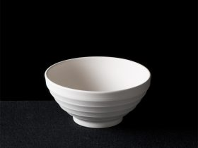 Bowl With Ridged Outer
