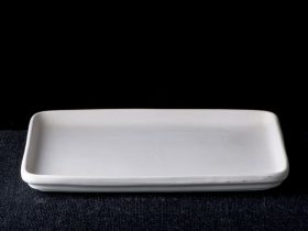 Thick Rim Rectangle Plate