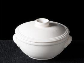 Lidded Bowl With Lug Handles